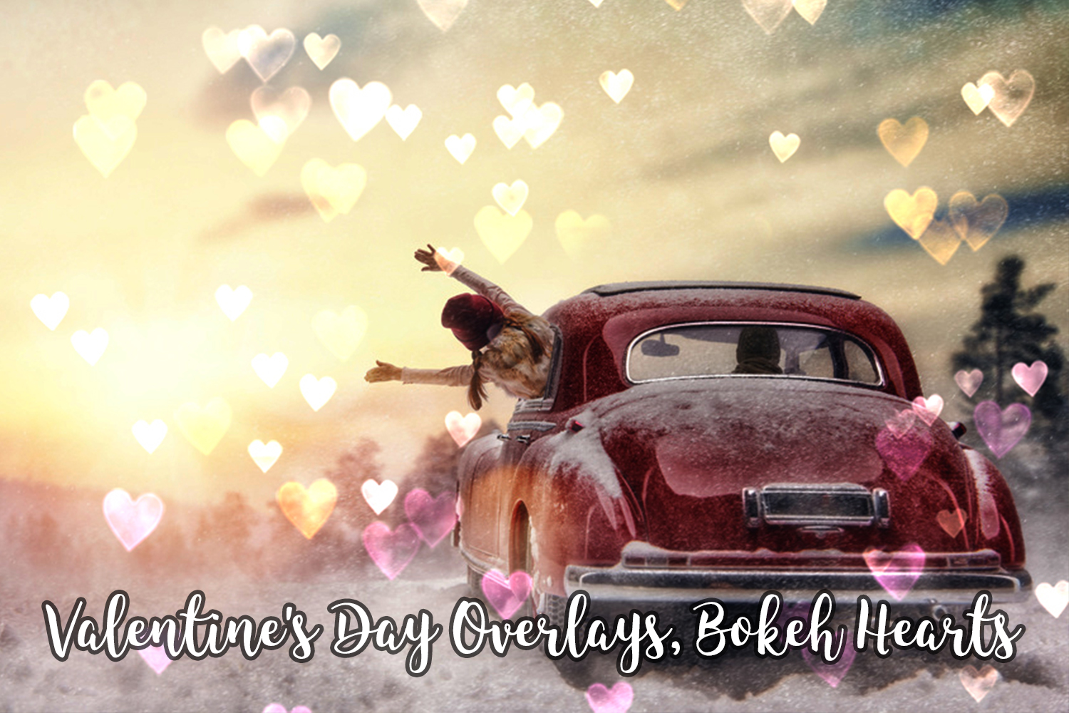 Valentine's Day Overlays, Bokeh Hearts Overlays example image 7