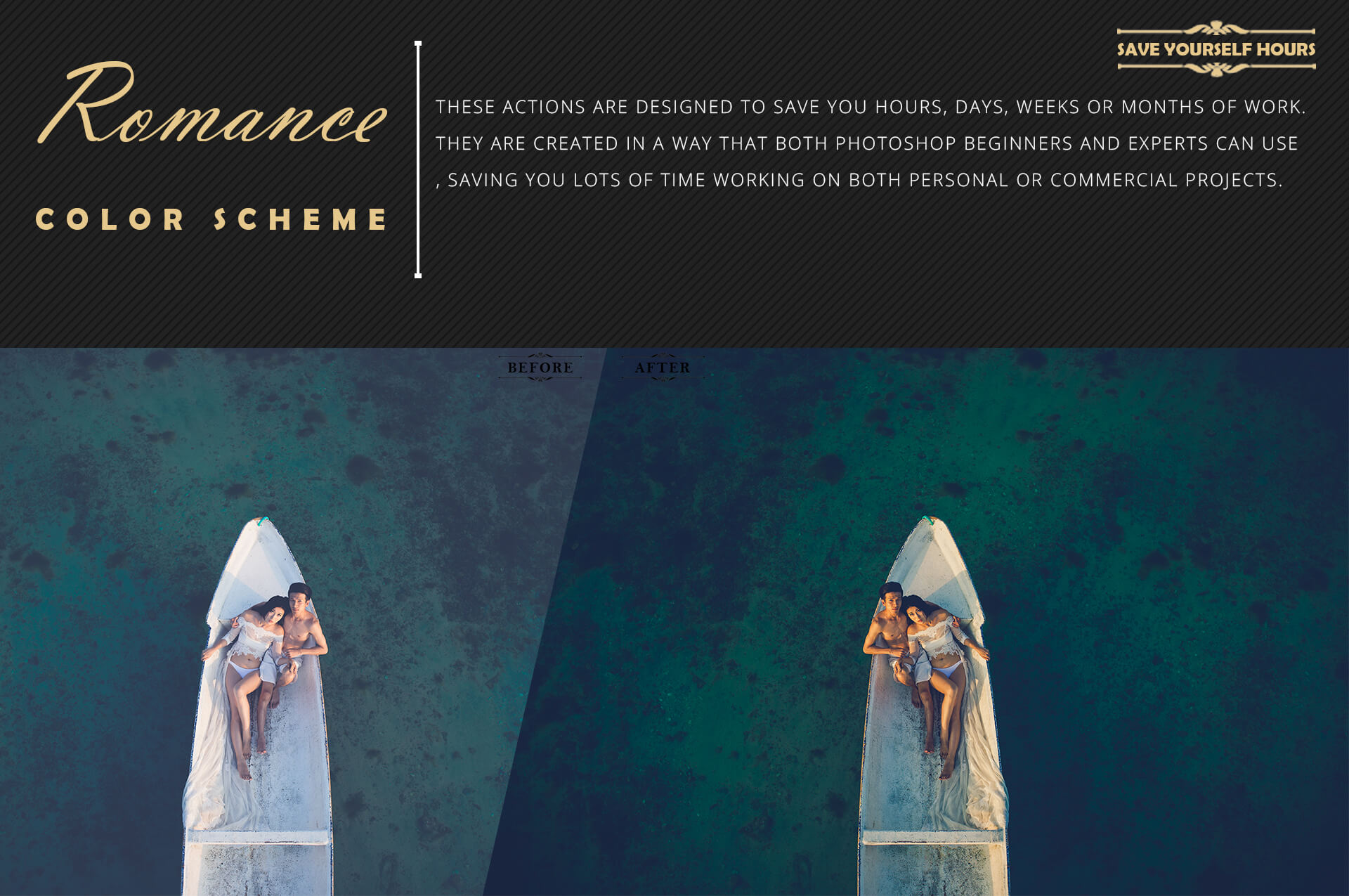 Romance Cinematic Color Grading Photoshop action Filter example image 7