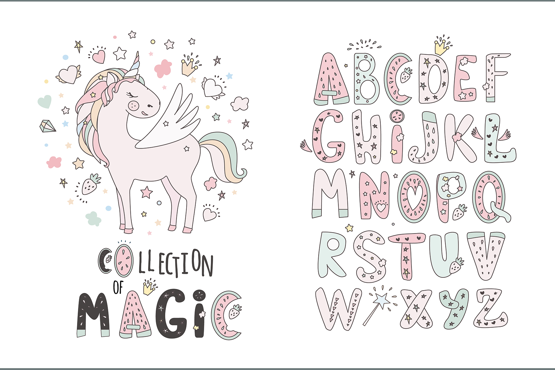 Magical collection of unicorns example image 6