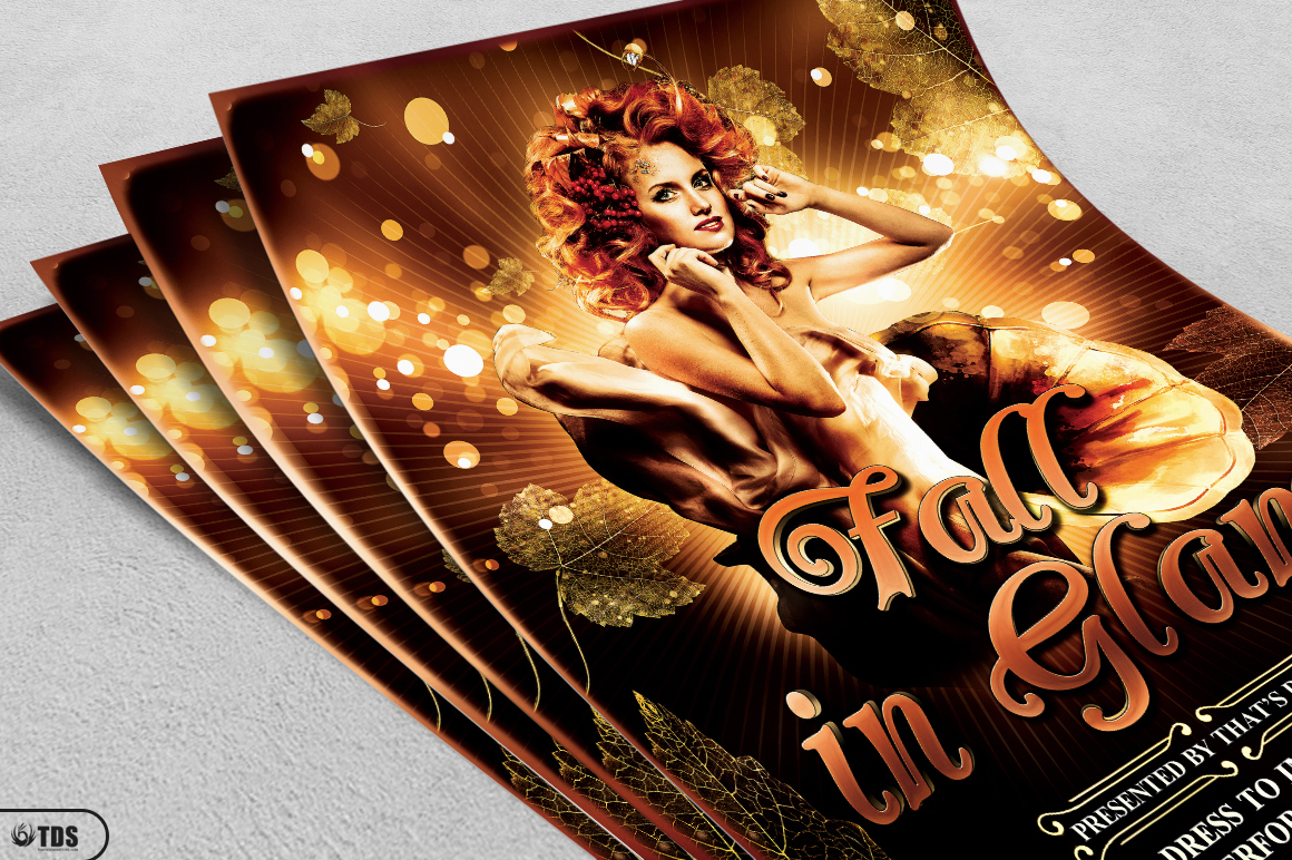 Fall in Glam Flyer Template V2 example image 5