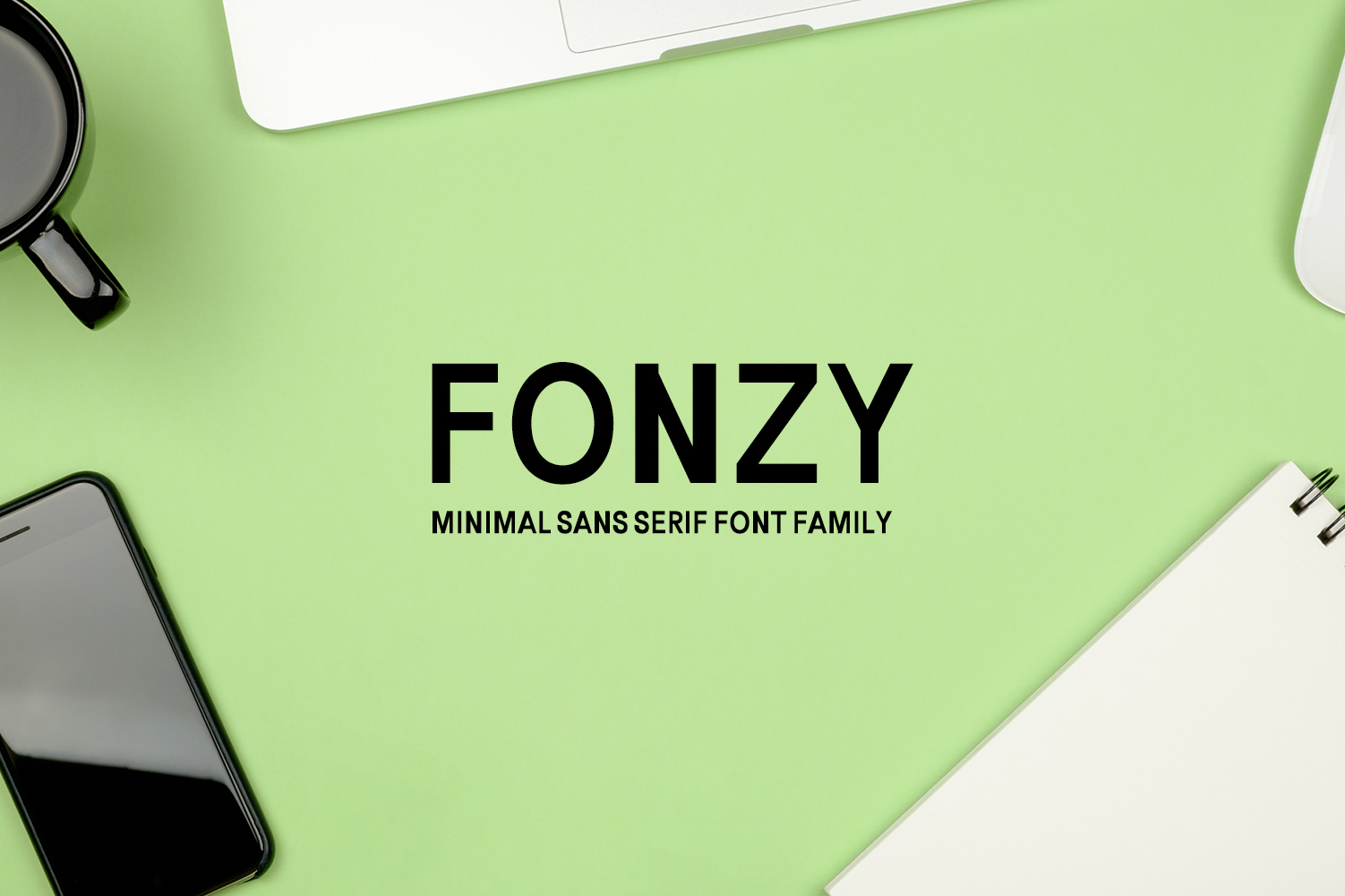 Fonzy Minimal Sans Serif 5 Font Pack example image 1