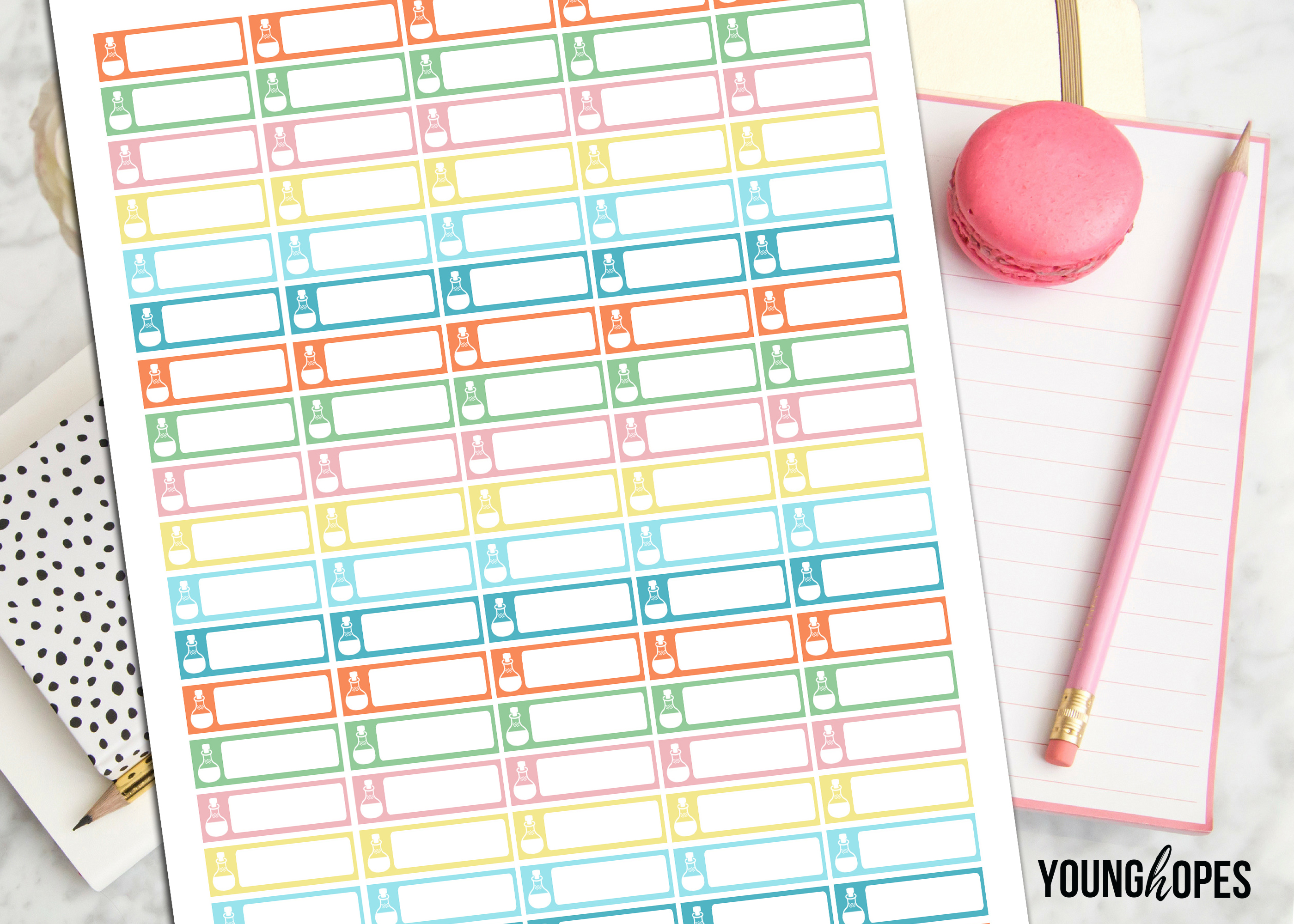 Essential Oils Planner Stickers Printable Stickers example image 3