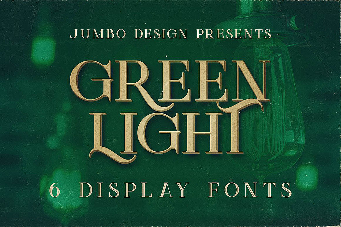 Green Light - Vintage Style Font example image 1
