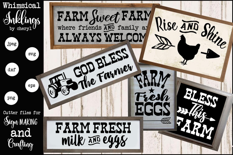 God Bless The Farmer SVG Set example image 1