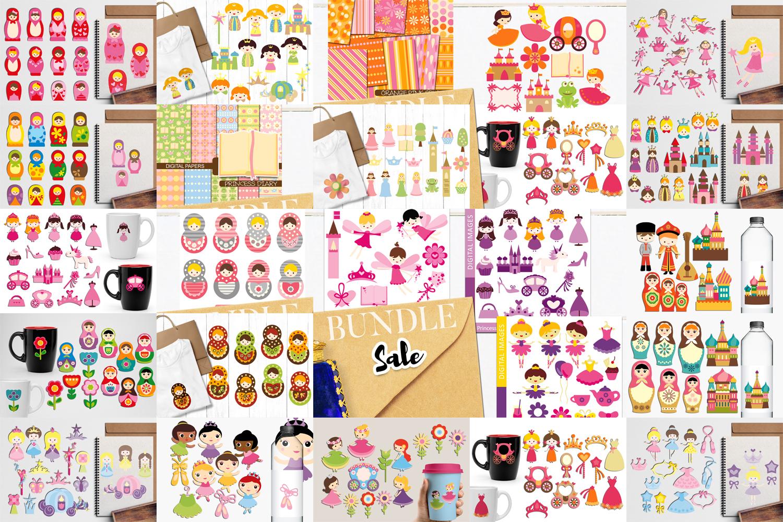 Just For Girls Clip Art Illustrations Huge Bundle example image 2