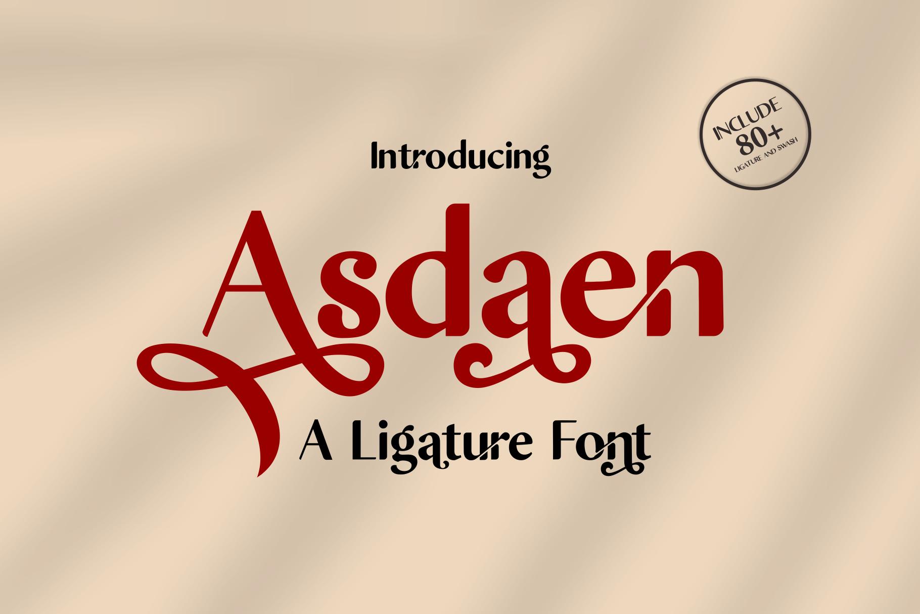 Asdaen Ligature example image 14