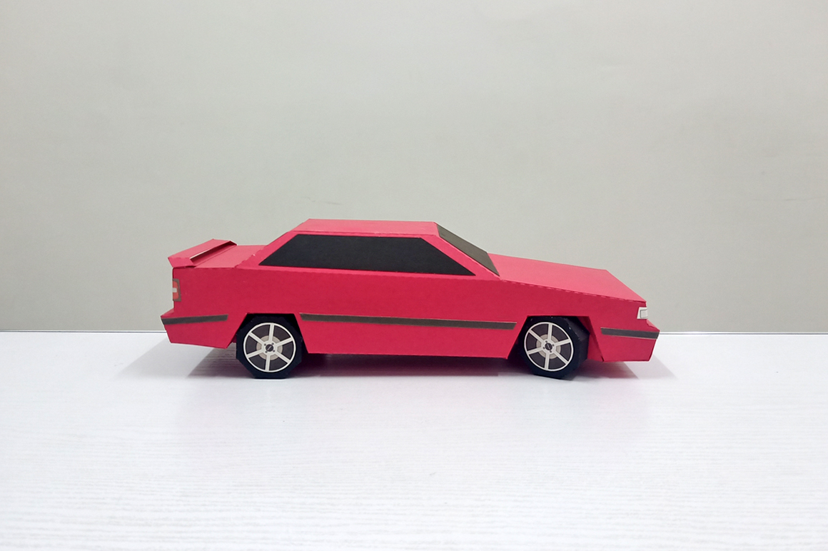 DIY Volvo Car - 3d papercraft example image 5