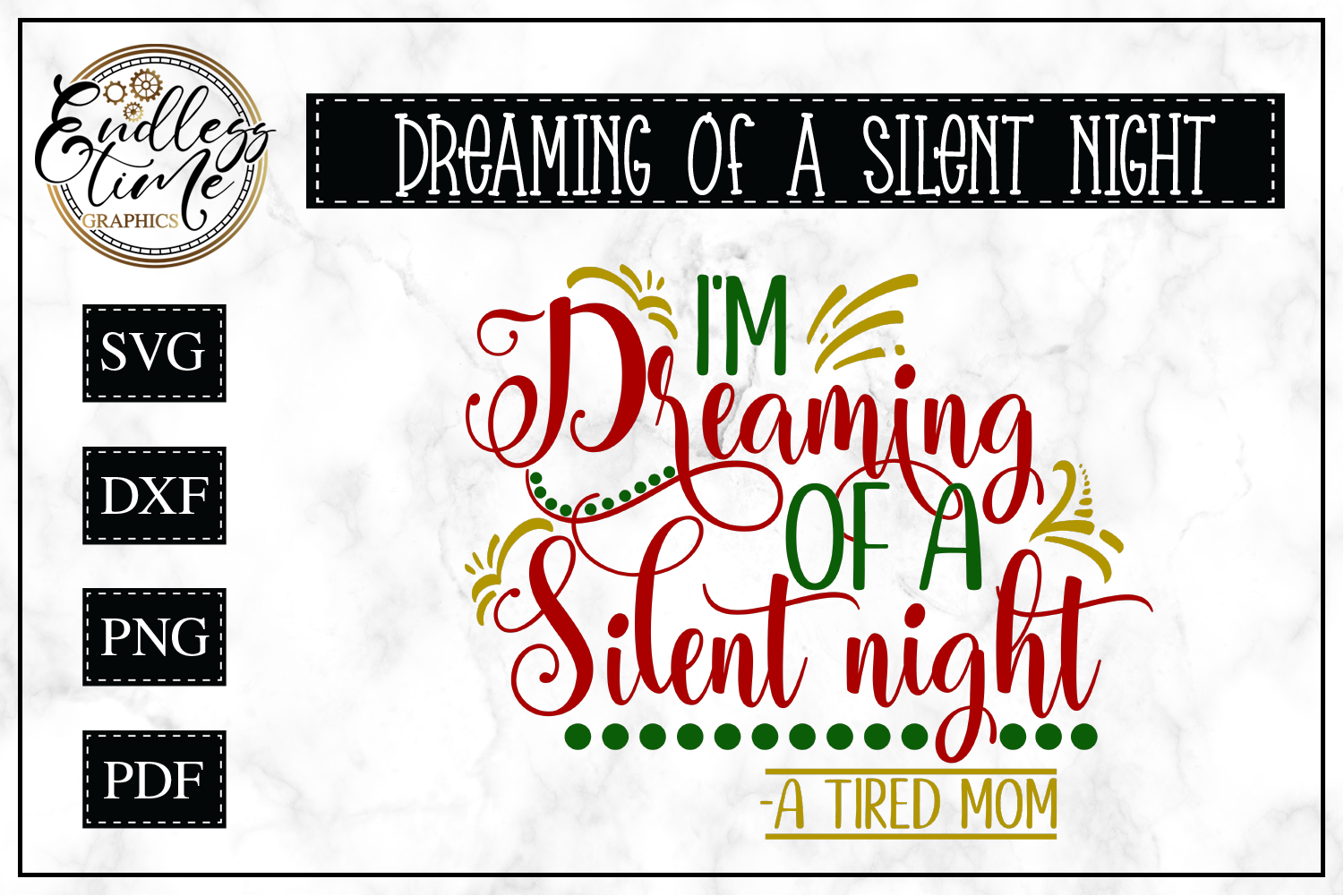 I'm Dreaming of a Silent Night SVG example image 1