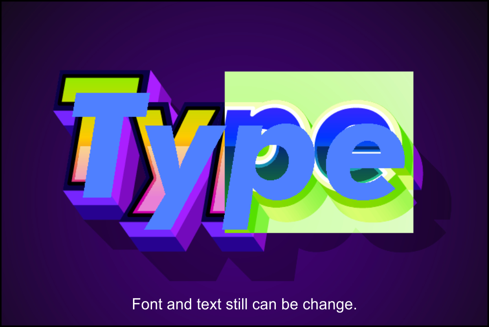 Modern text effects for illustrator example image 3