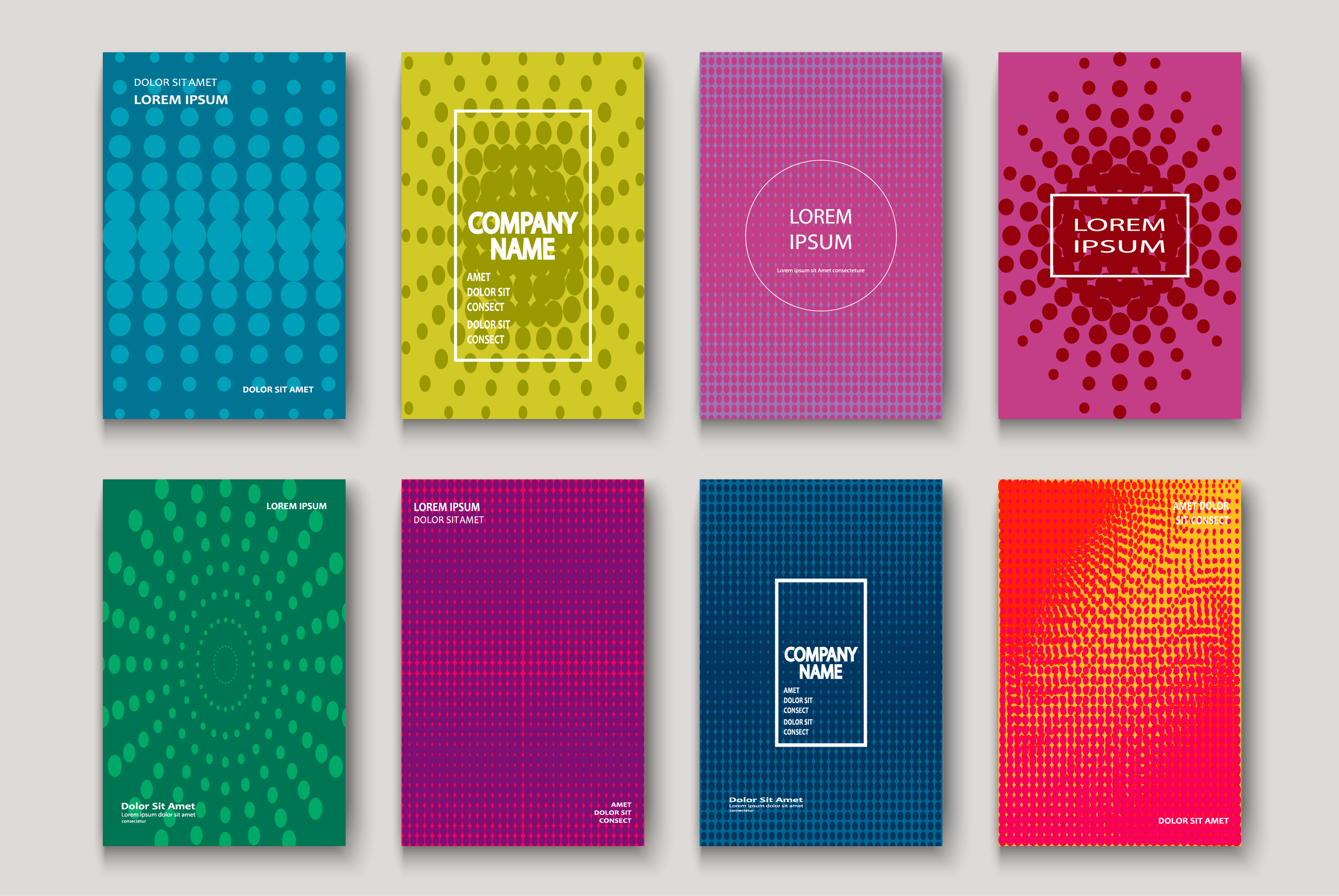 Minimalist modern cover design. Dynamic colorful halftone example image 1