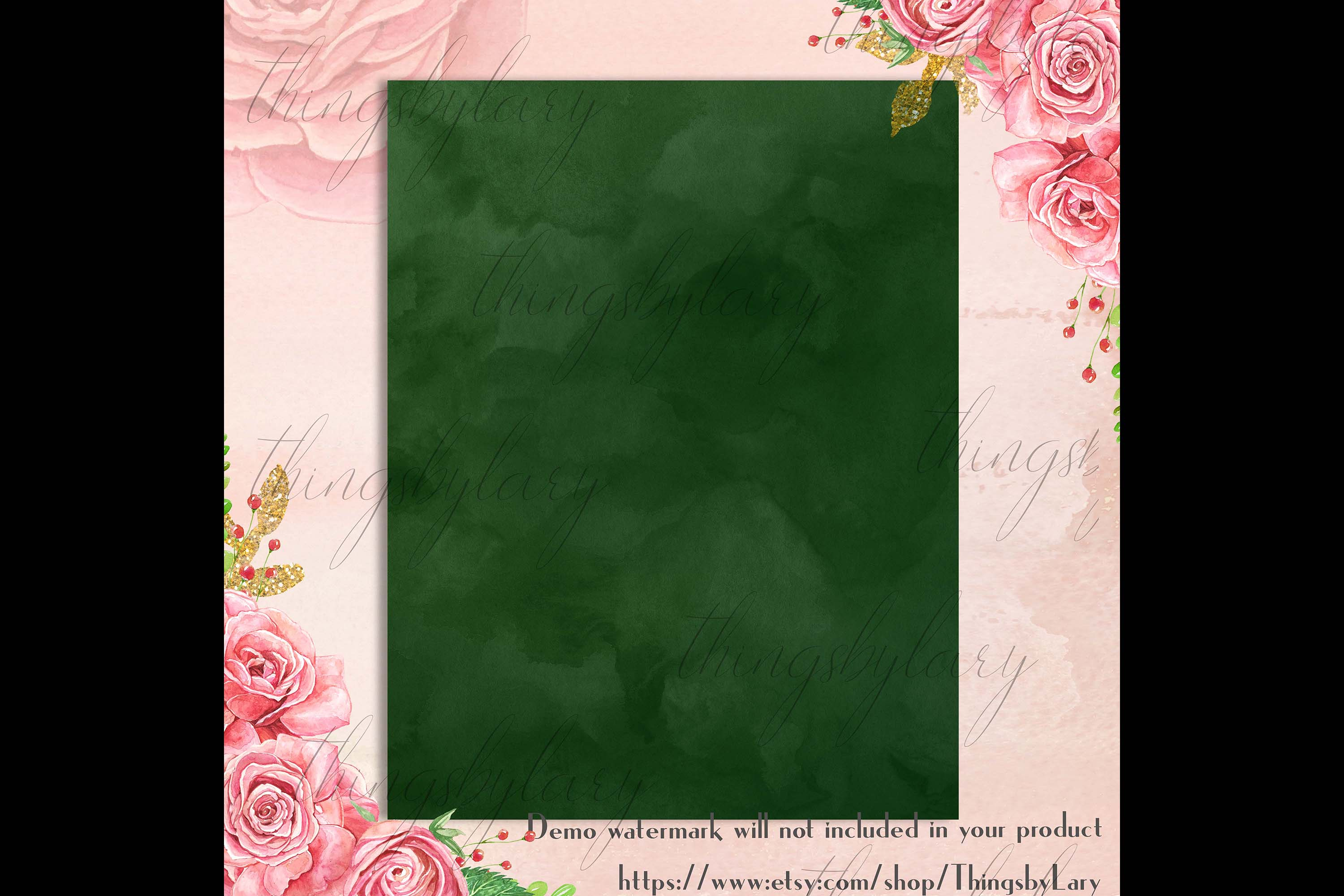 18 Sweet Ombre Watercolor Digital Images Card Invitation example image 5