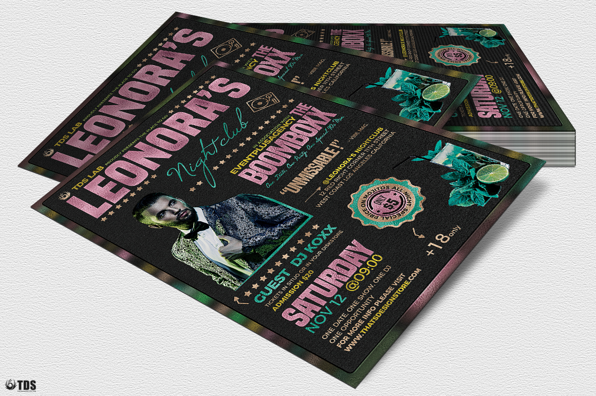 Nightclub Promotion Flyer Template example image 4