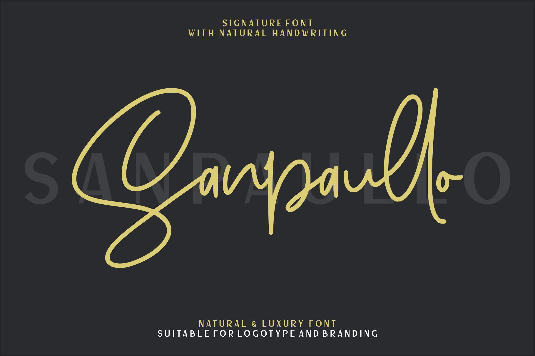 Sanpaullo - Signature Font example image 1