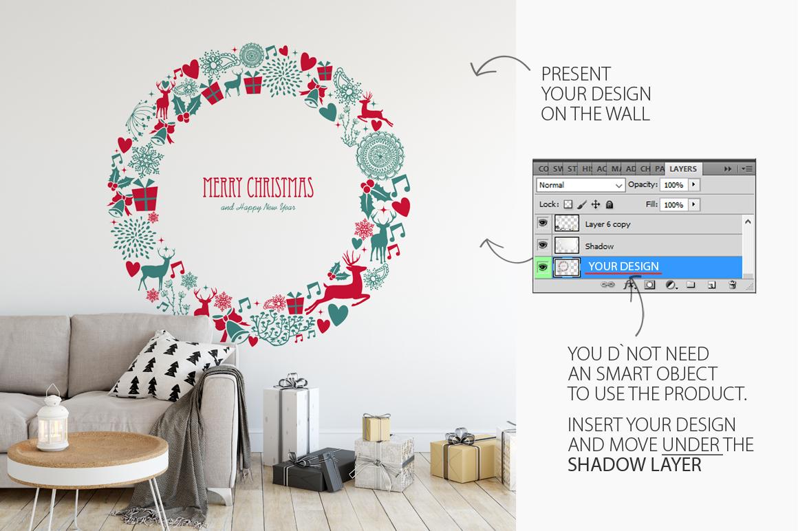 Christmas Wall Mockups example image 11