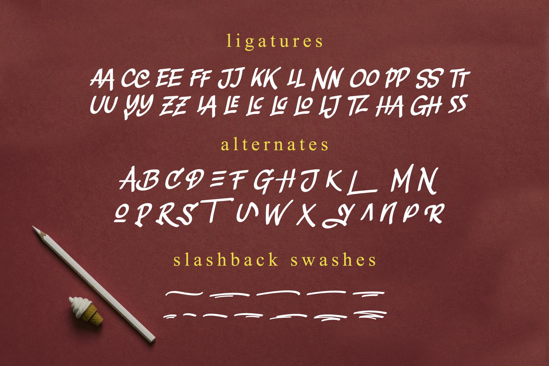 Slashback Typeface example image 7