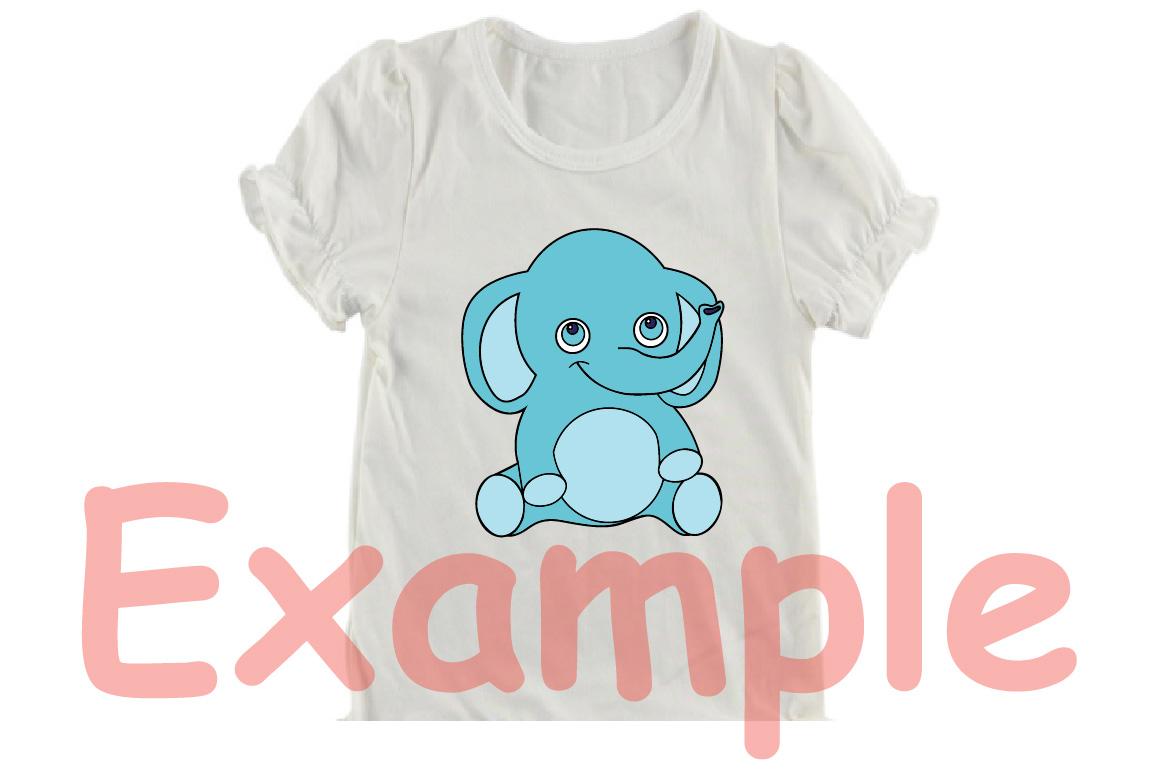 Elephant Rhino Outline Safari Baby Animals -749S example image 4