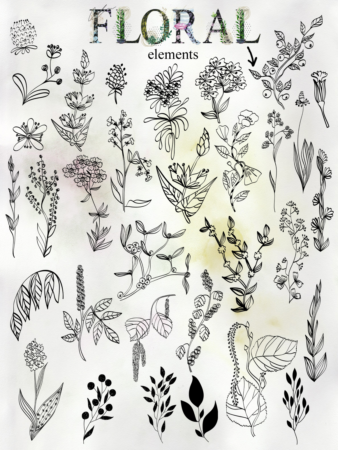 Abstract and floral collection. example image 9