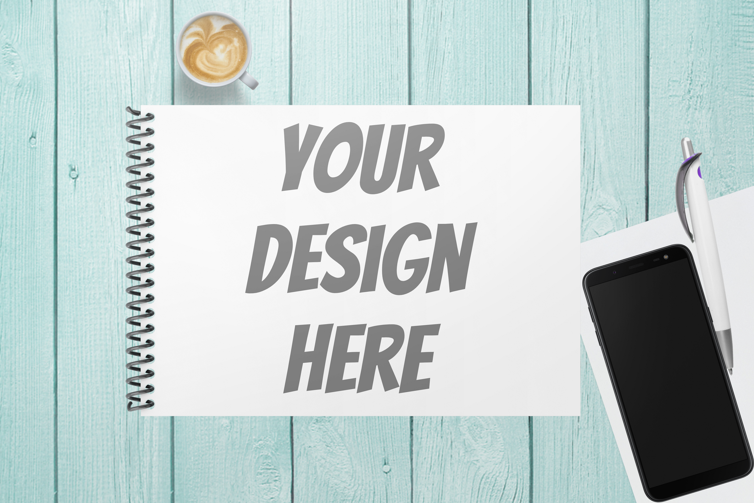 Spiral Note Book Mockup - 3 |PNG | W4000XH2667 example image 2