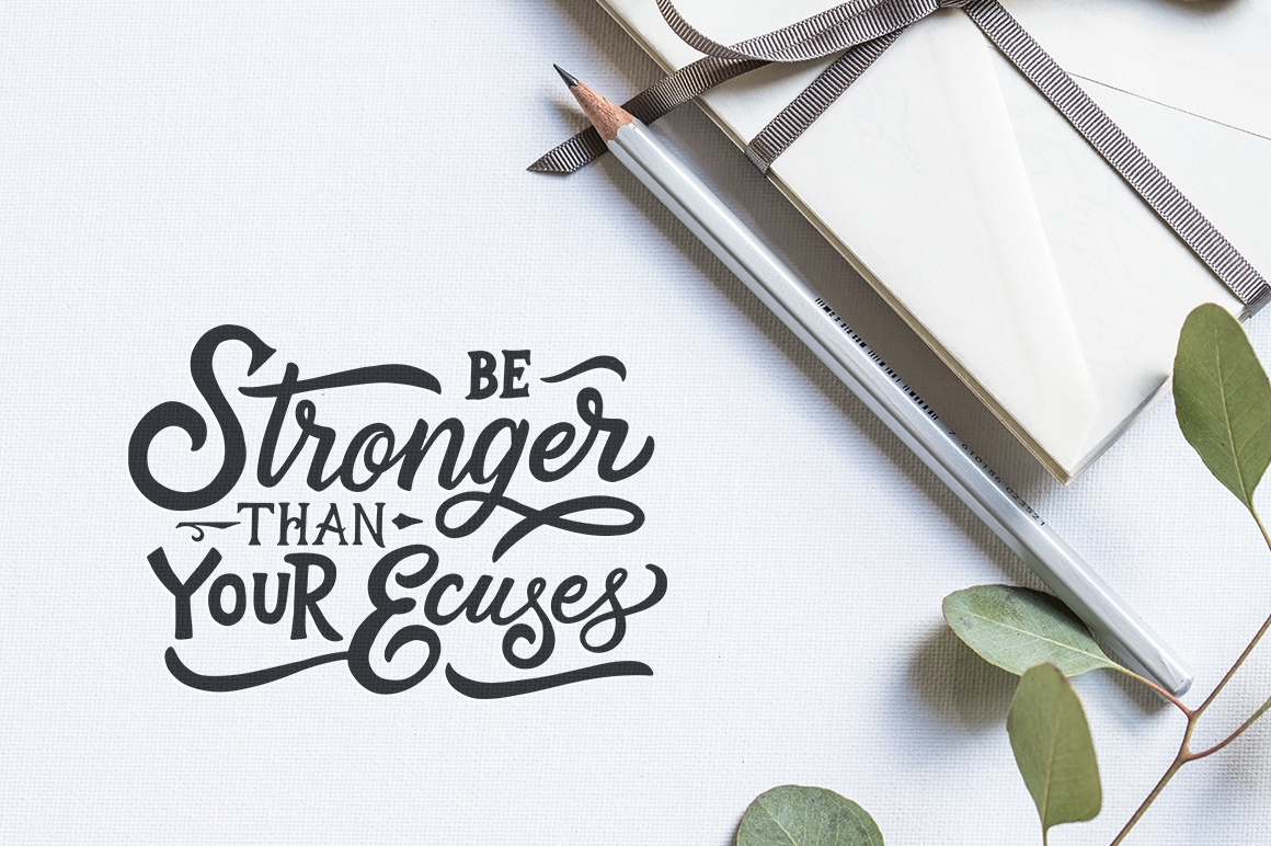 Inspirational Quotes Lettering example image 3