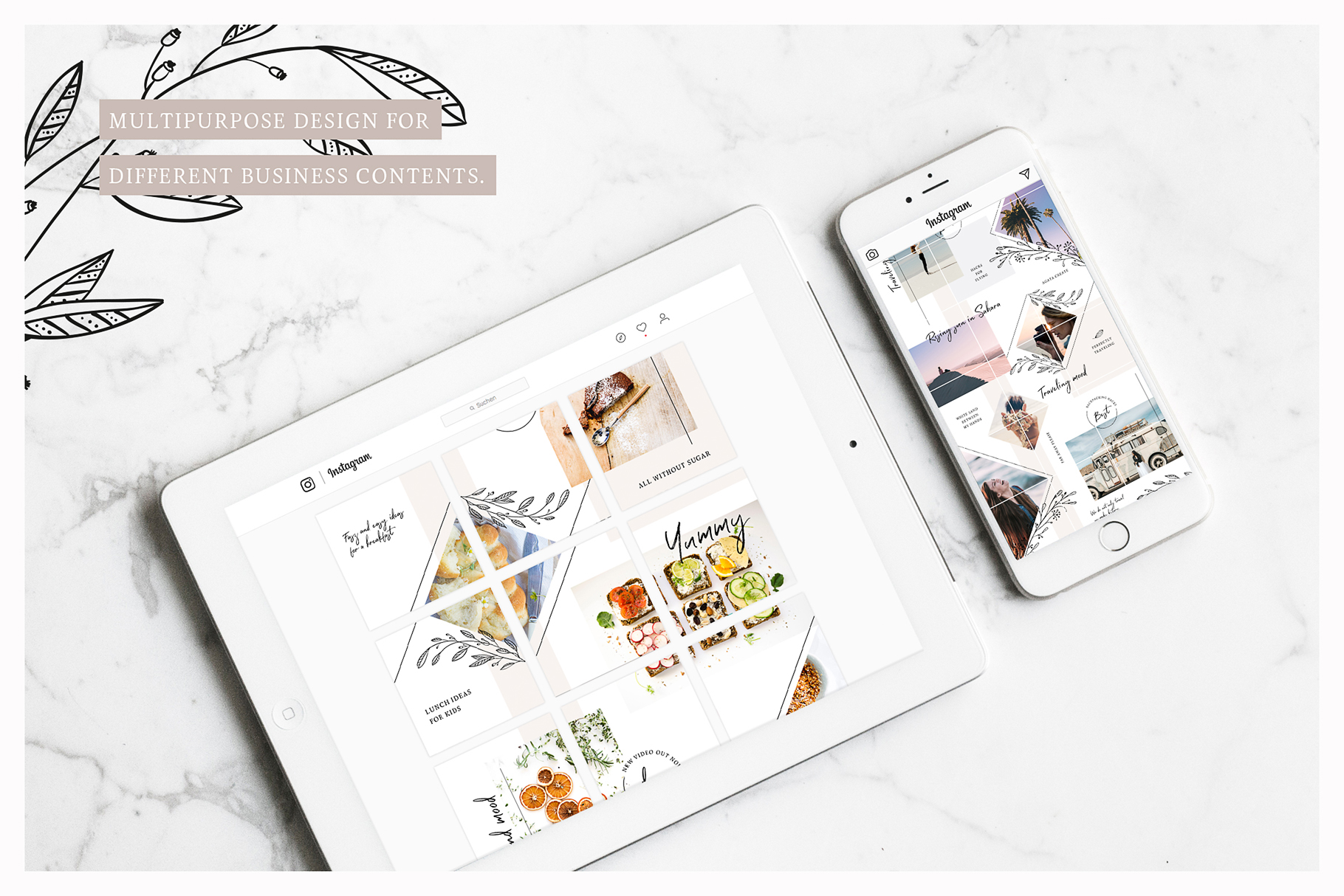 Fine Instagram Puzzle Template example image 5