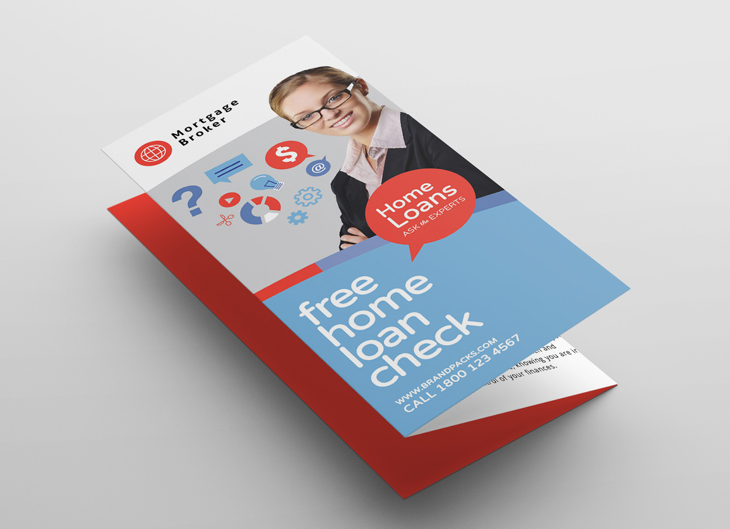 Modern Corporate Tri-Fold Brochure Template example image 3