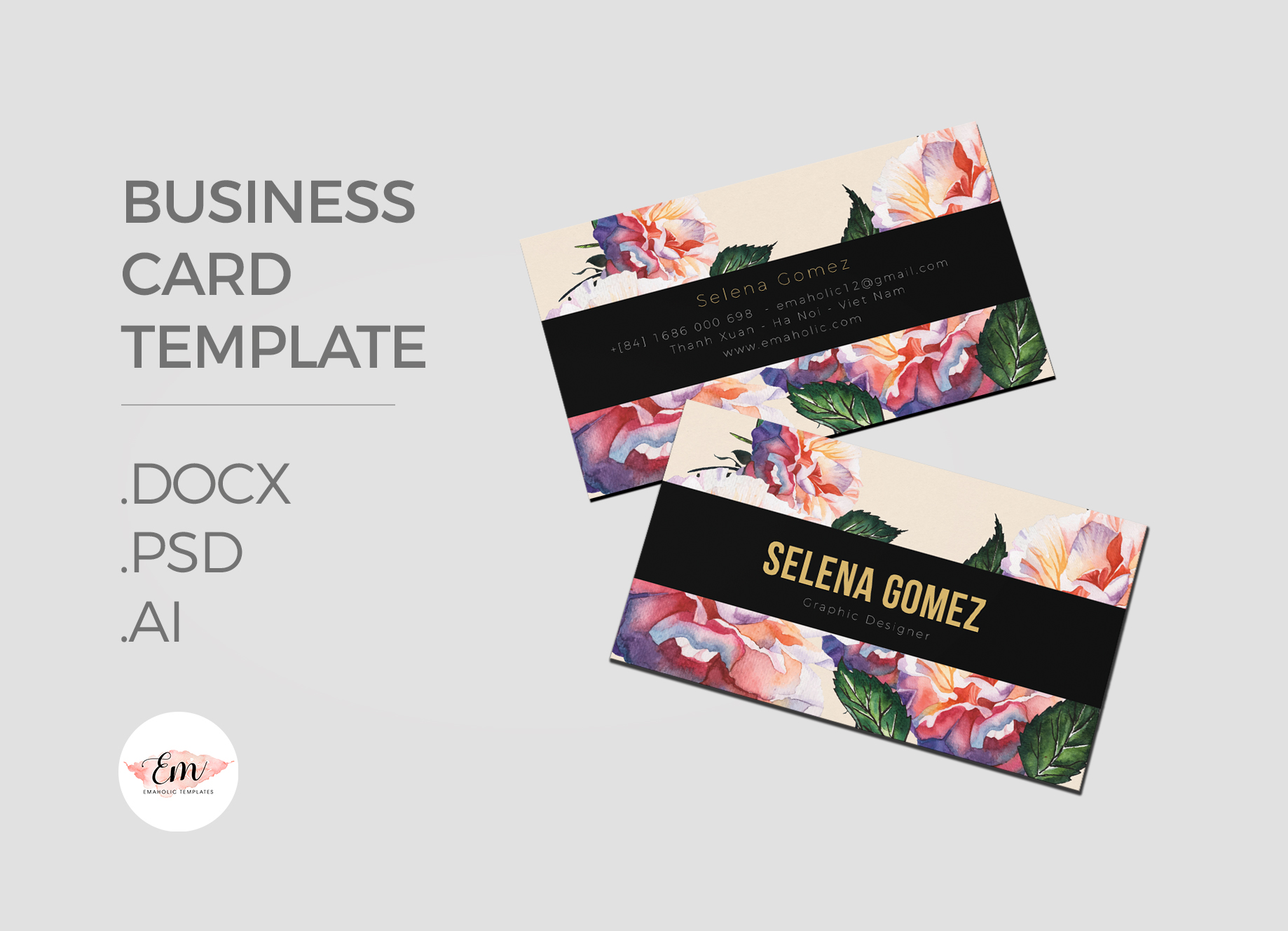 Elegant Business Card Template / Creative Business Card / Modern card example image 1