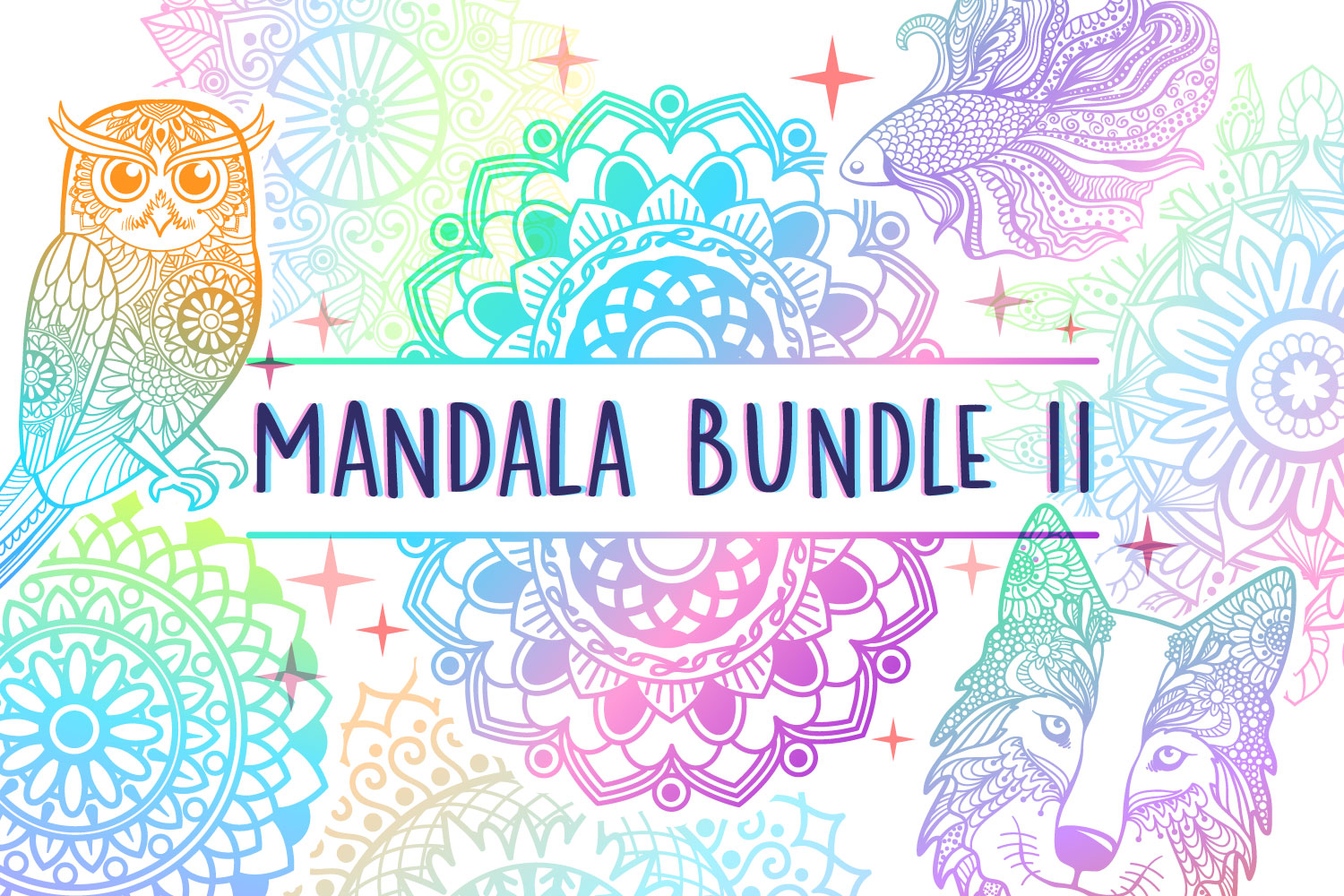 Mandala Bundle II - 25 SVG cut files example image 1