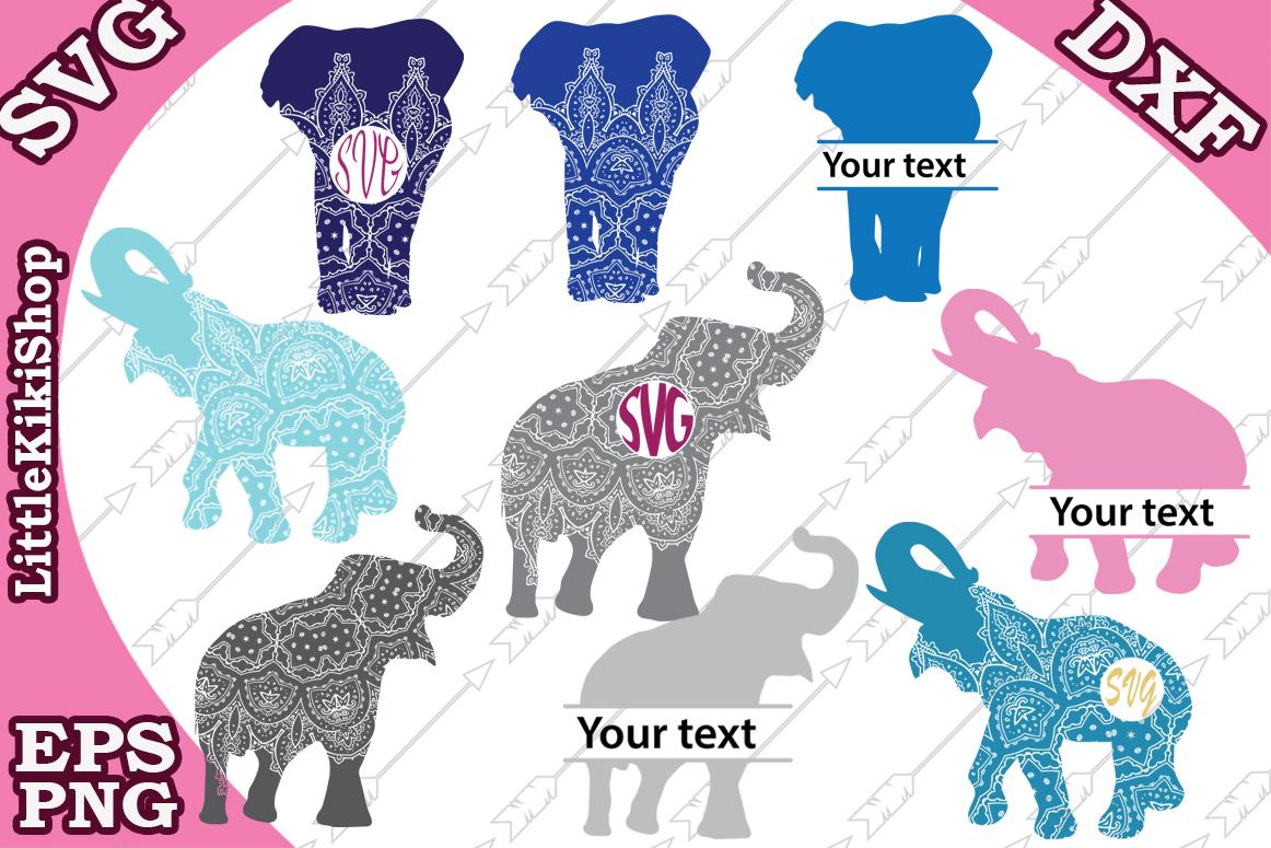 Elephant Monogram Svg,Elephant Clipart,Elephant Svg,Safari example image 1