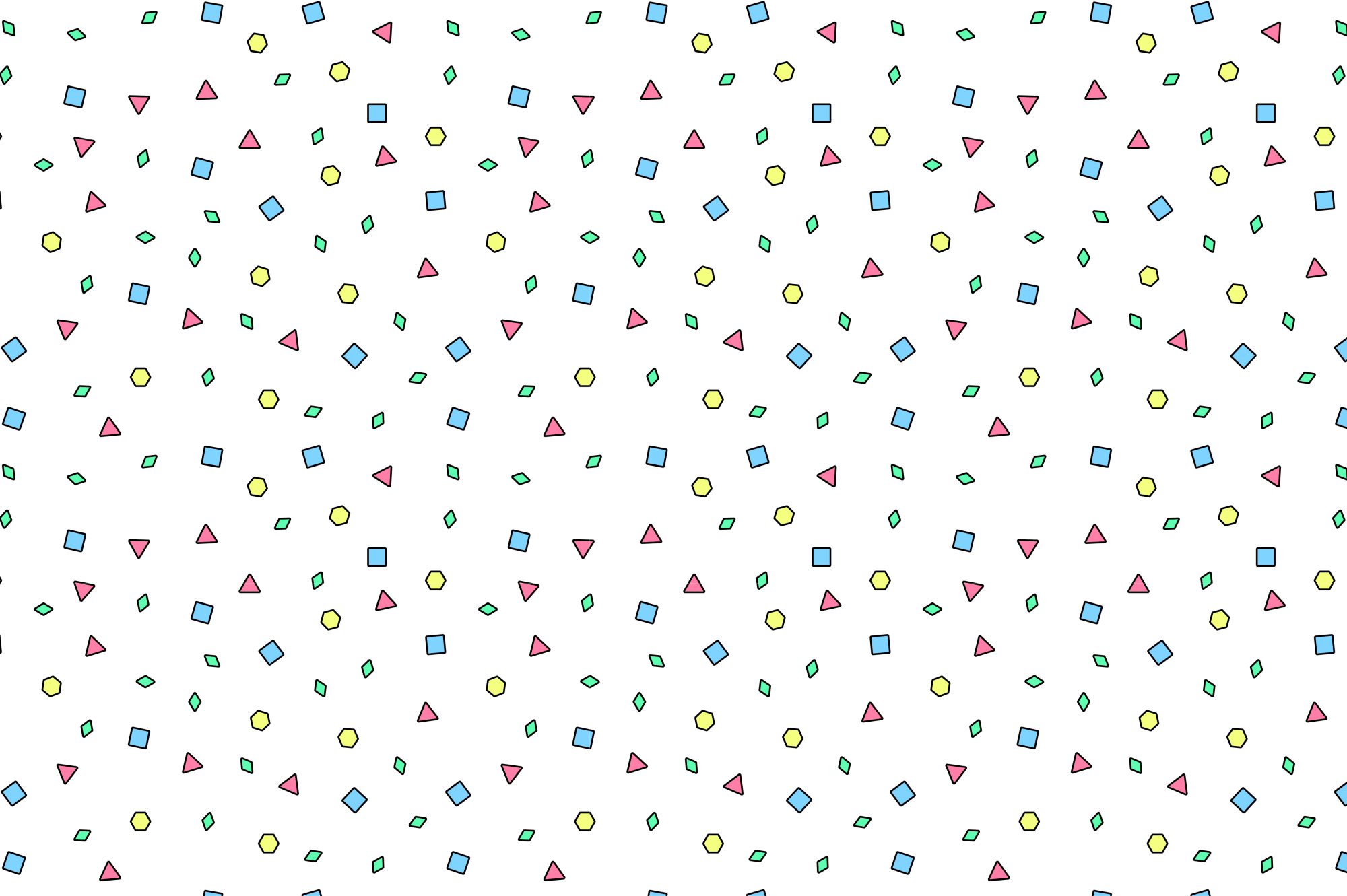 Colorful Memphis Patterns - seamless example image 2