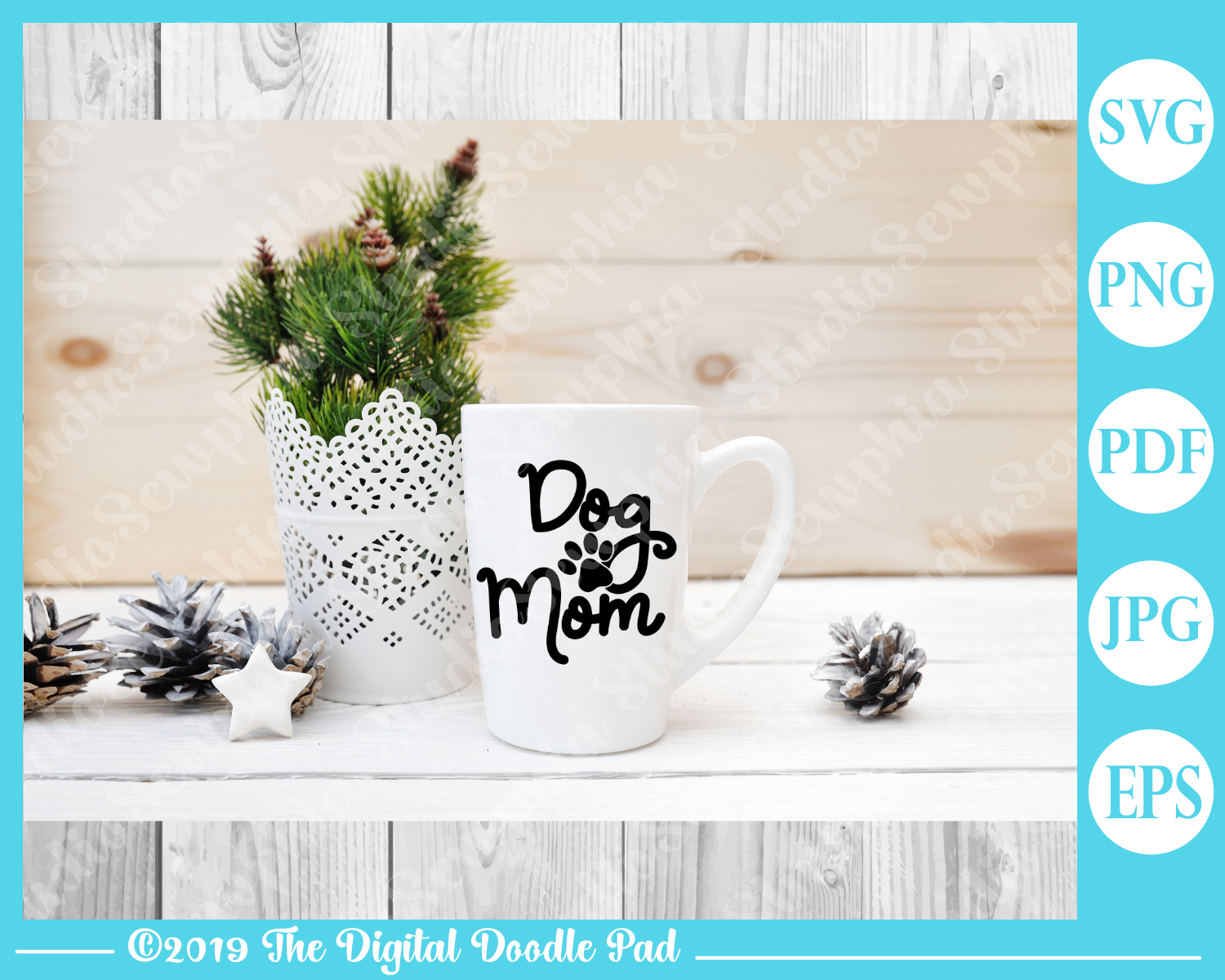 Dog Mom by Digital Doodle Pad example image 3