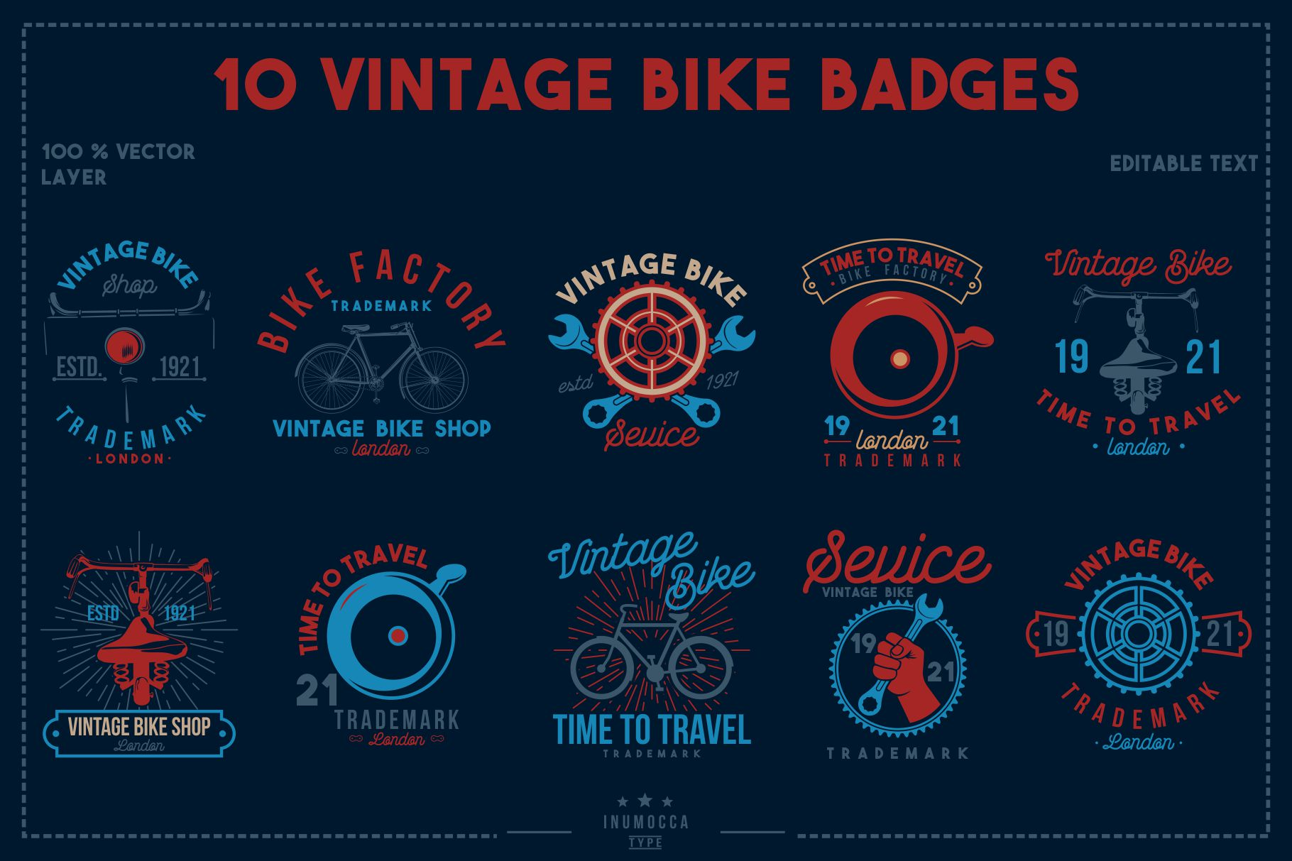 BIG BUNDLE Vintage Badges example image 9