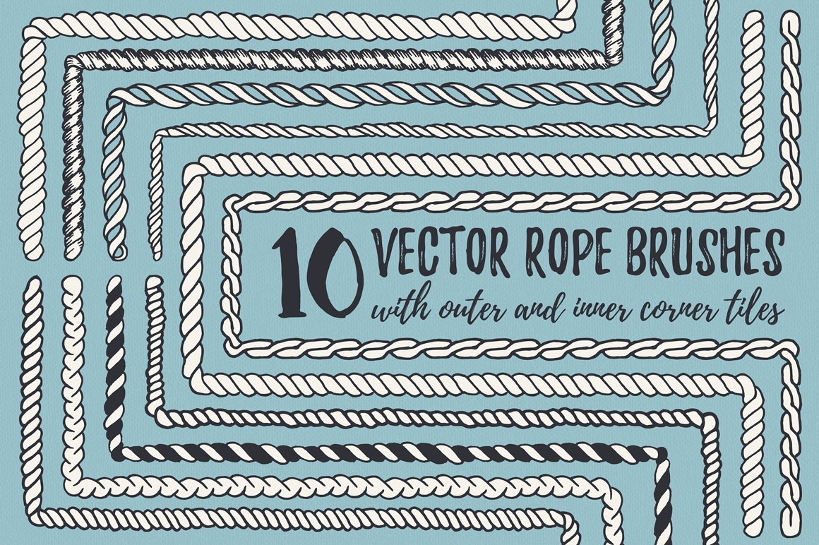 22 Vector Rope Brushes example image 2