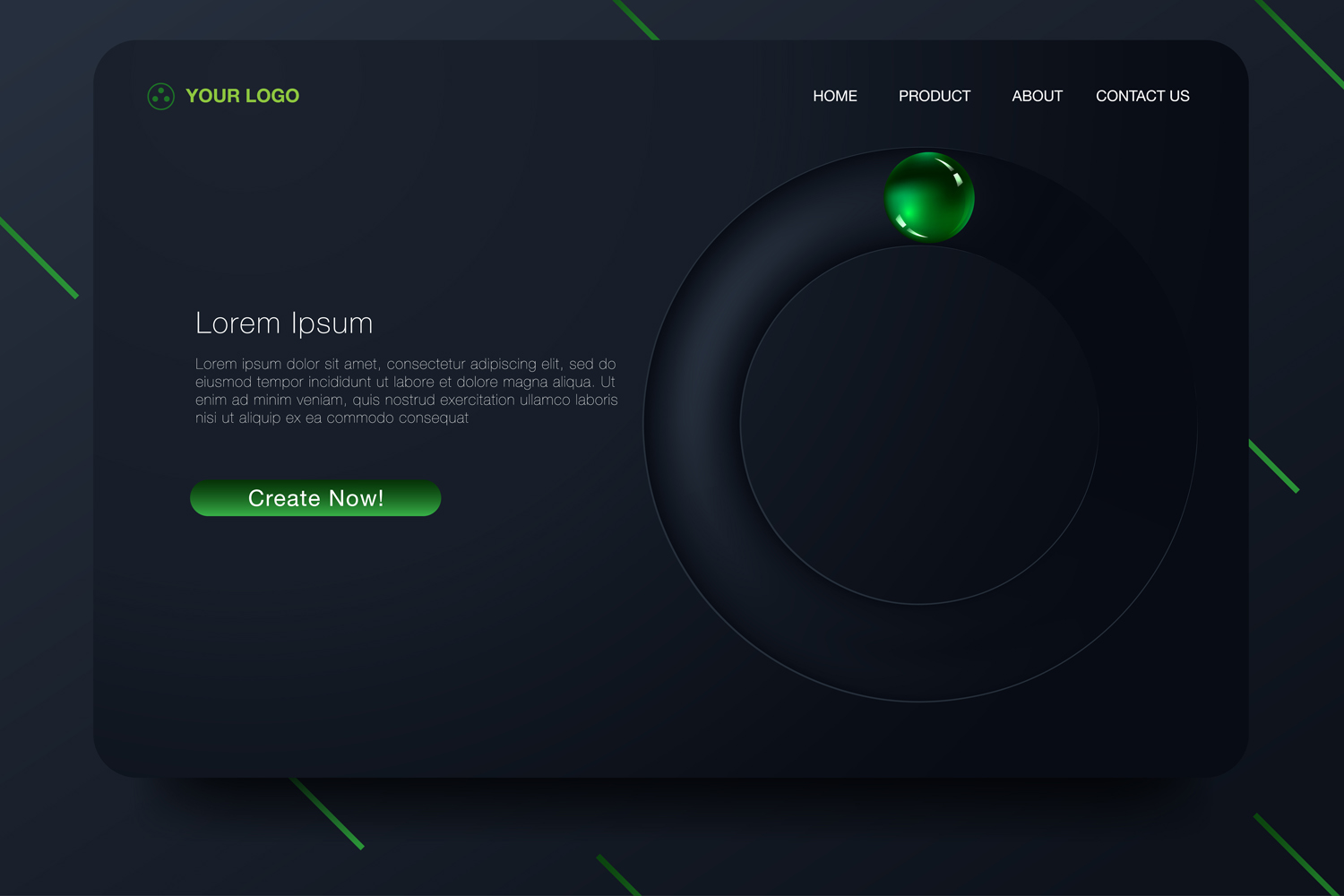 20 - Abstract background design. Landing page template example image 2