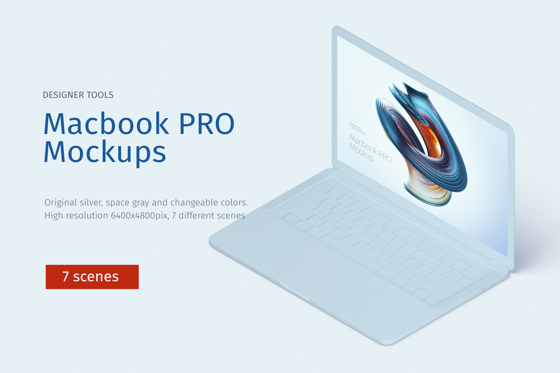 Macbook PRO Creative Mockup example image 1