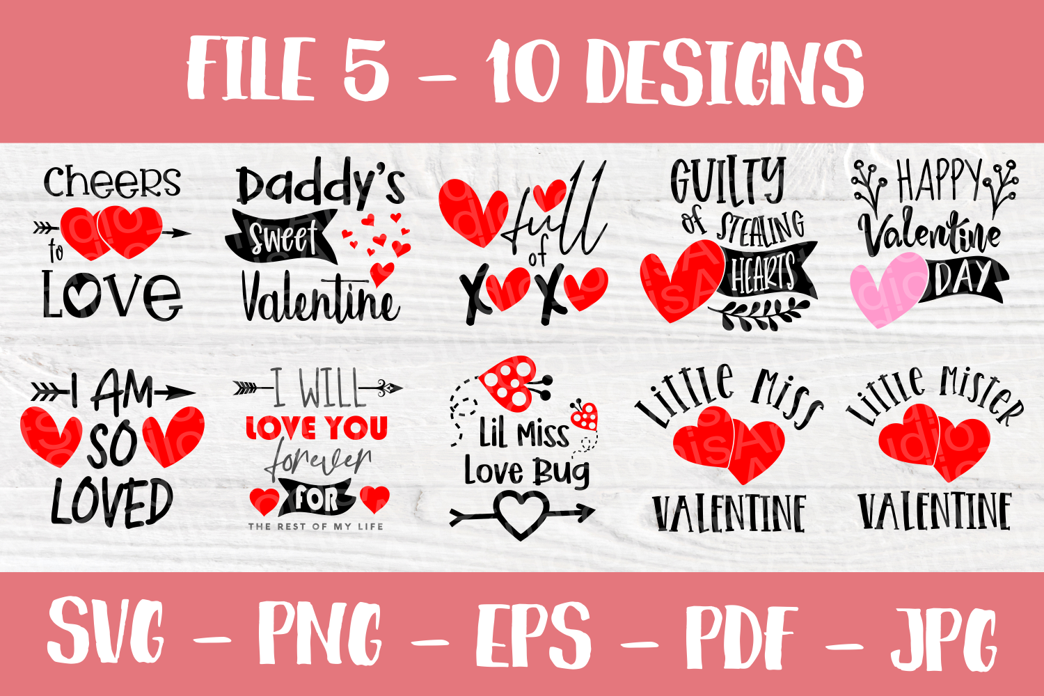Valentine's Day Quotes | Valentines SVG Bundle| SVG Cut File example image 5