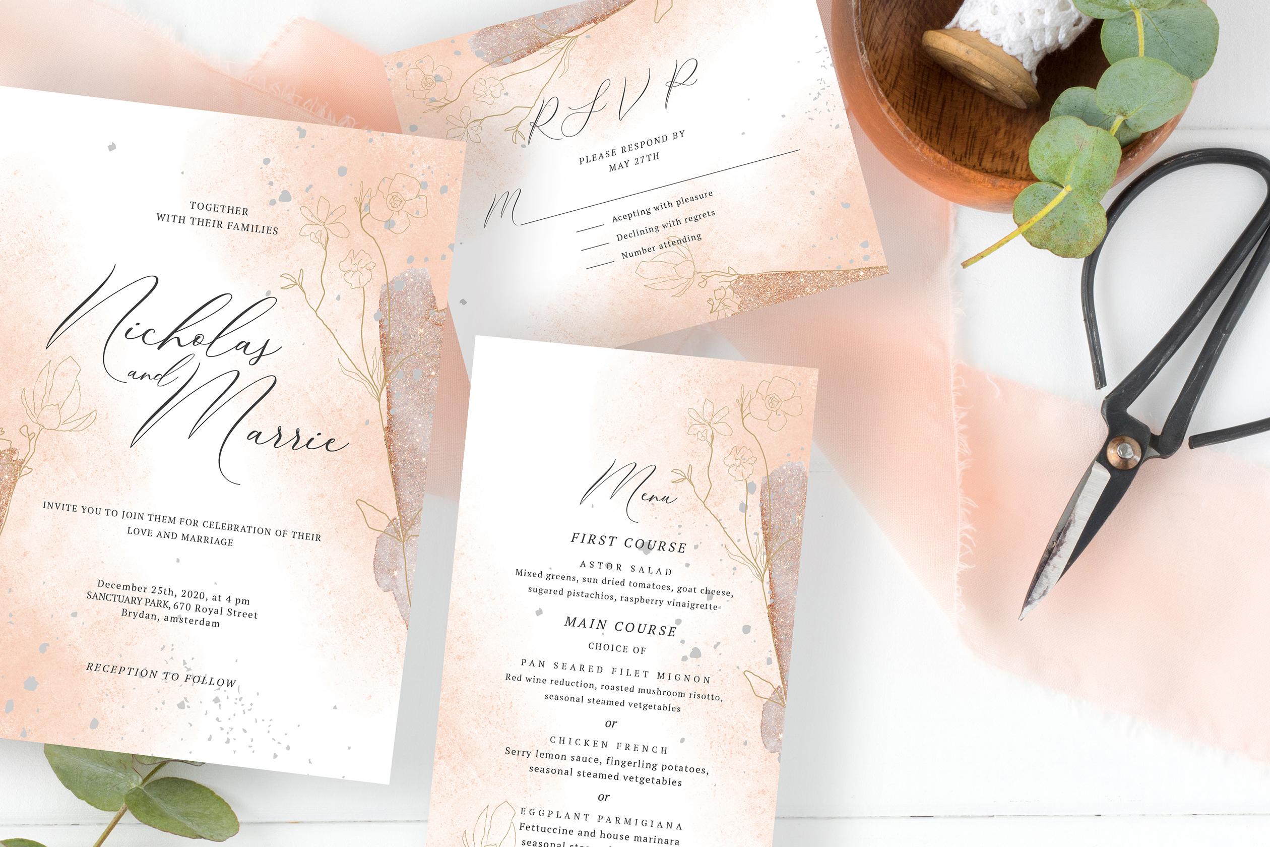 Blush Foliage Wedding Suite example image 1