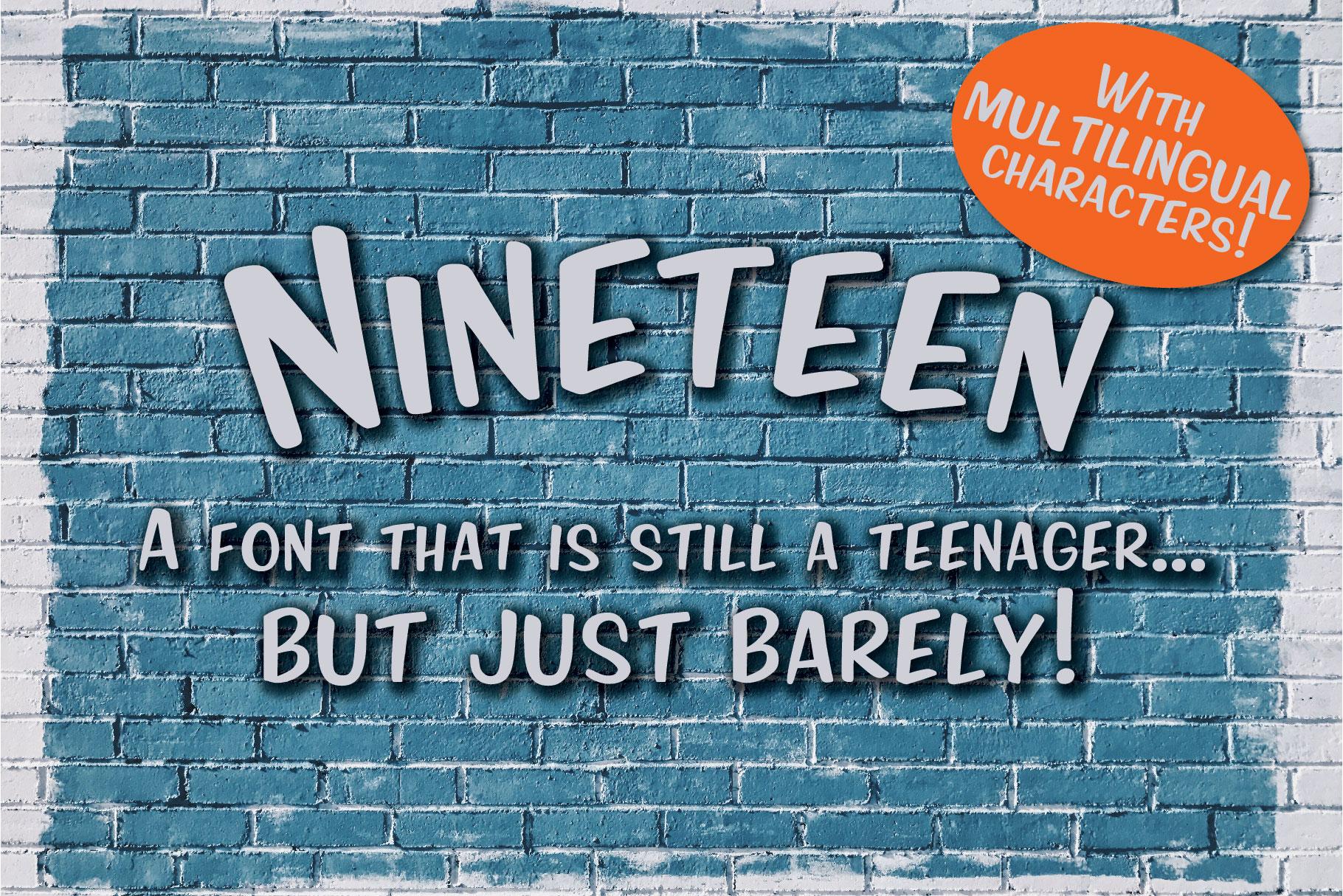 Nineteen Sans Serif example image 1