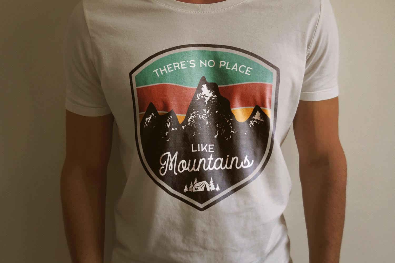 Mountains Logo, Retro Adventure Badge T-Shirt SVG Cut File example image 2