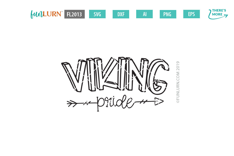 Viking Pride Team SVG Cut File example image 2