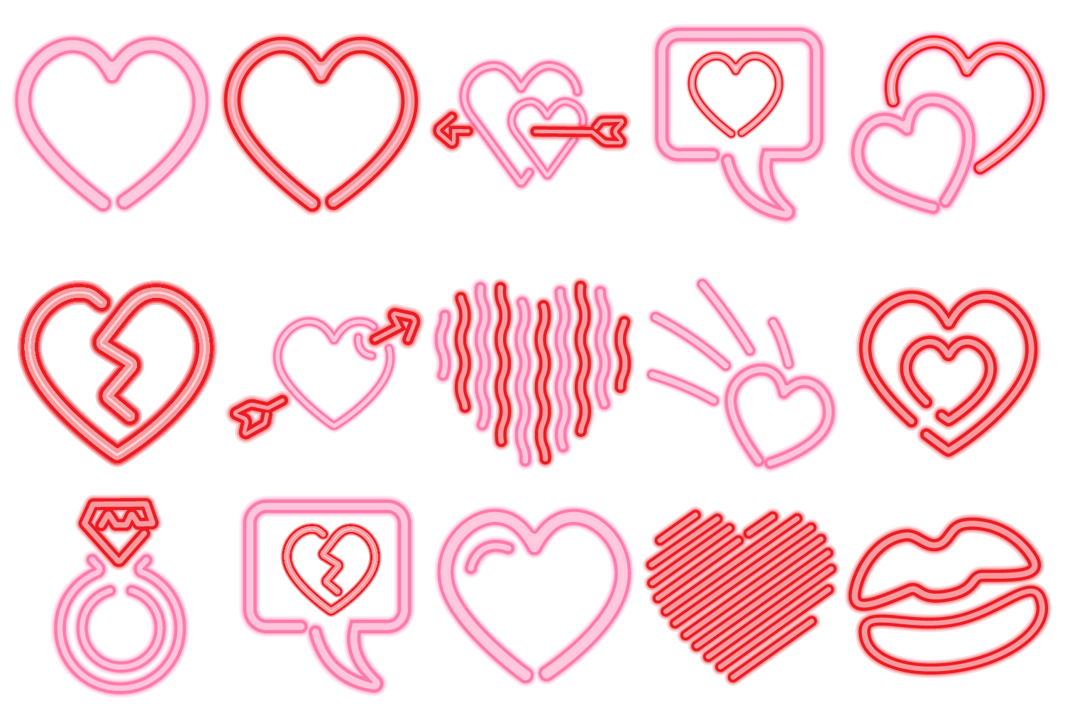 Neon Heart Collection example image 2