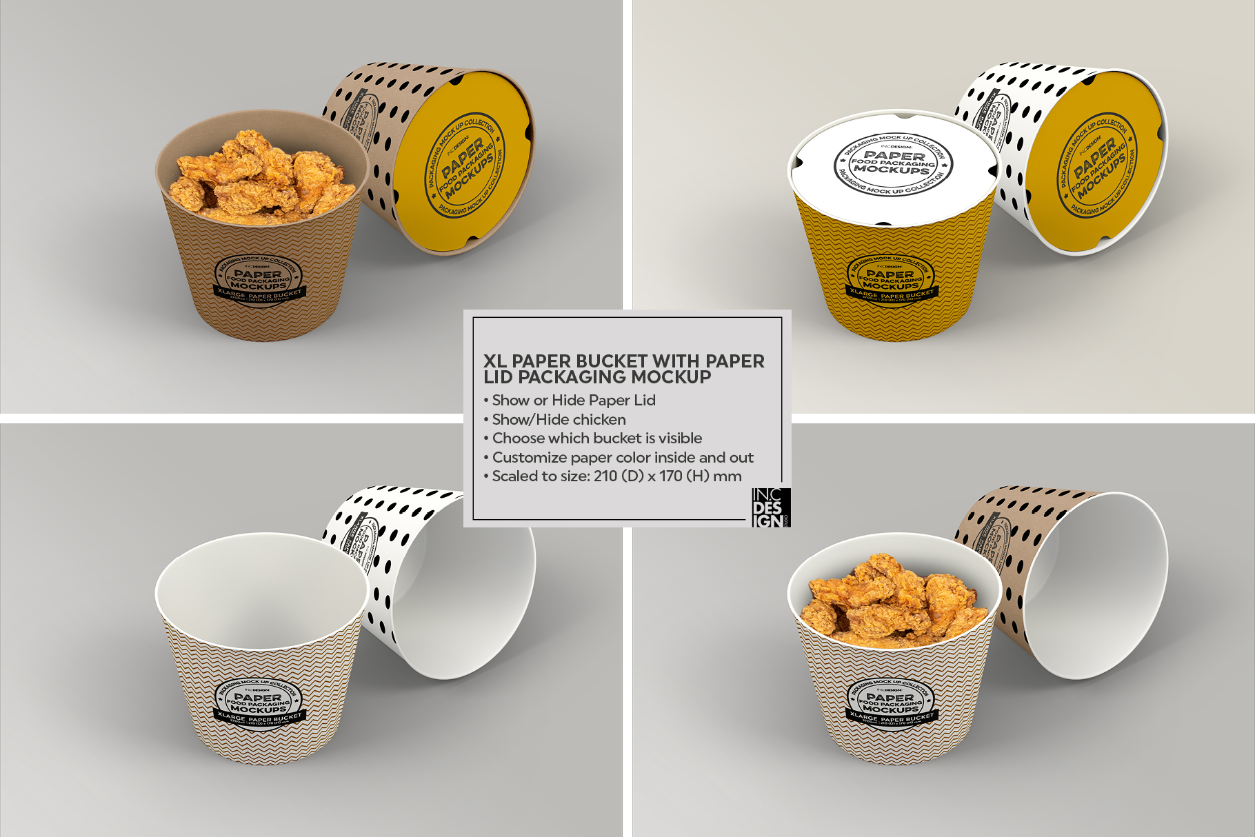 VOL.12 Food Box Packaging MockUps example image 27