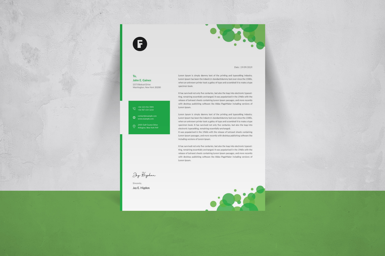 Creative Letterhead Template example image 4