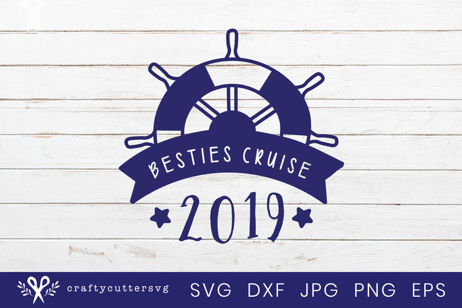 Besties Cruise 2019 Svg Cut File Steering Wheel Clipart example image 2