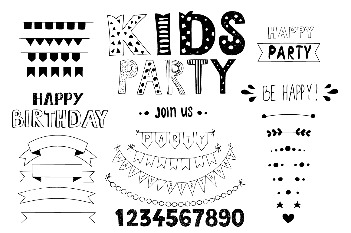 KIDS Party! Huge bundle example image 9