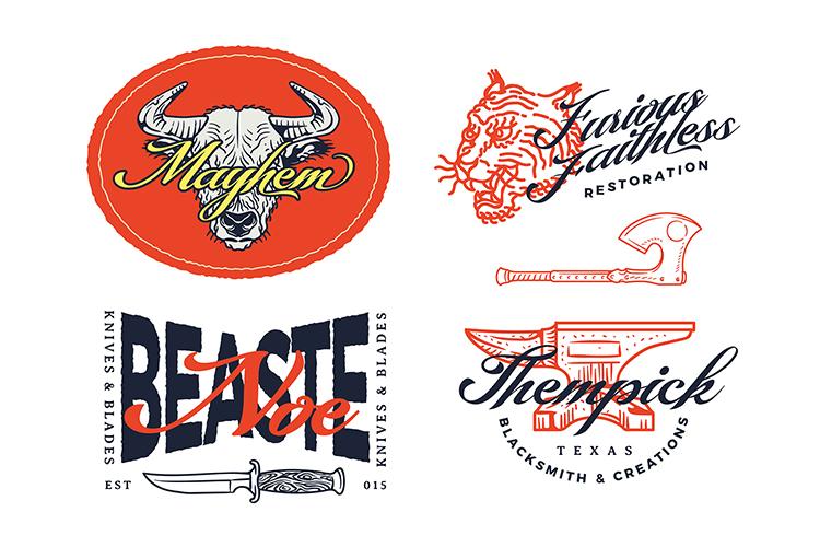 Montante Script. Illustration pack example image 2