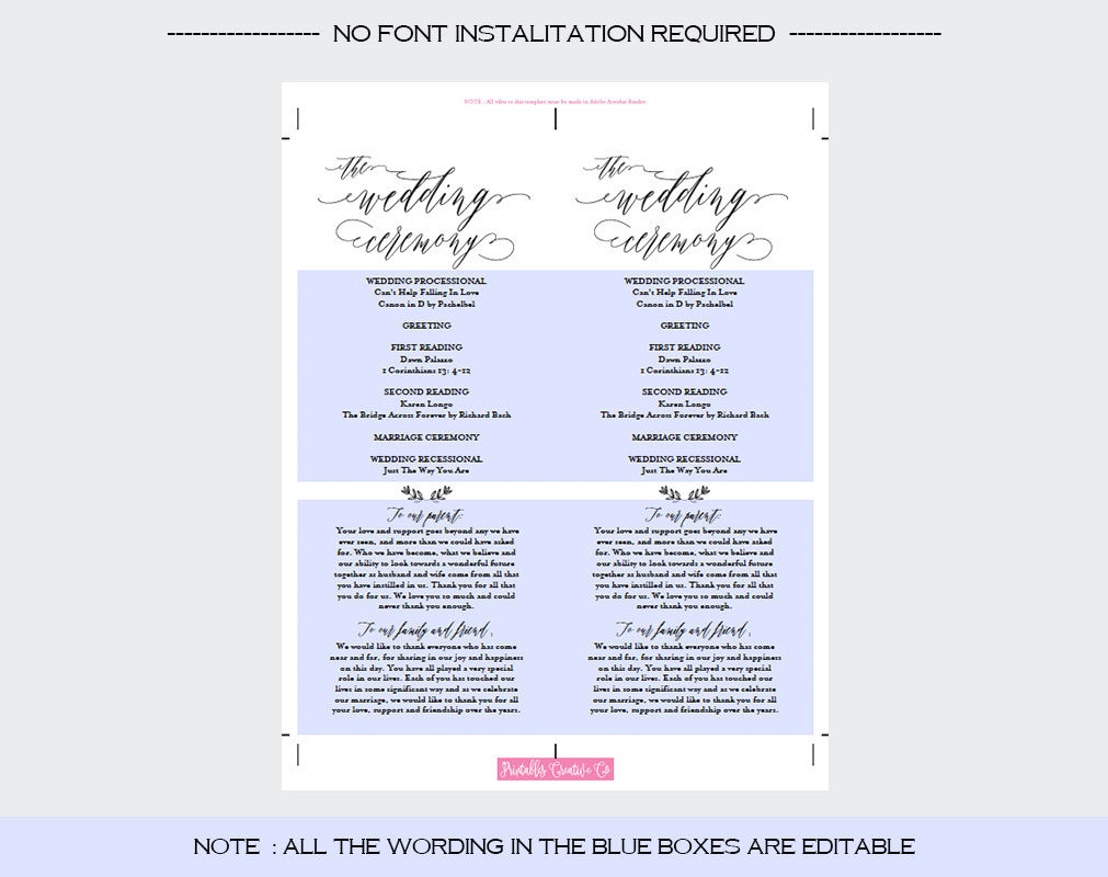Wedding Program example image 4