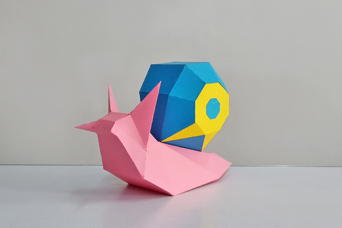 DIY Papercraft Snail,Paper Snail model,Printables,Paper toy example image 8