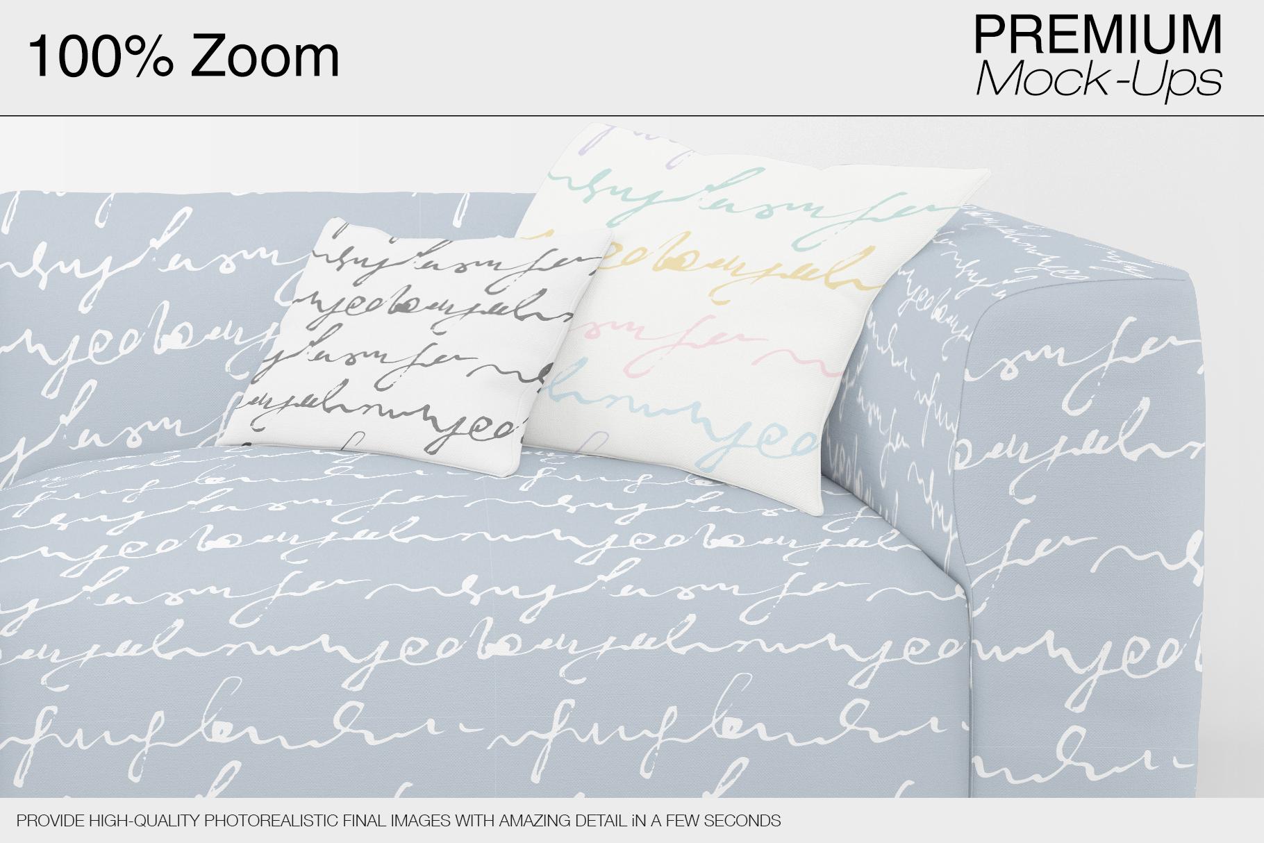 Sofa & Pillows Mockup Pack example image 11
