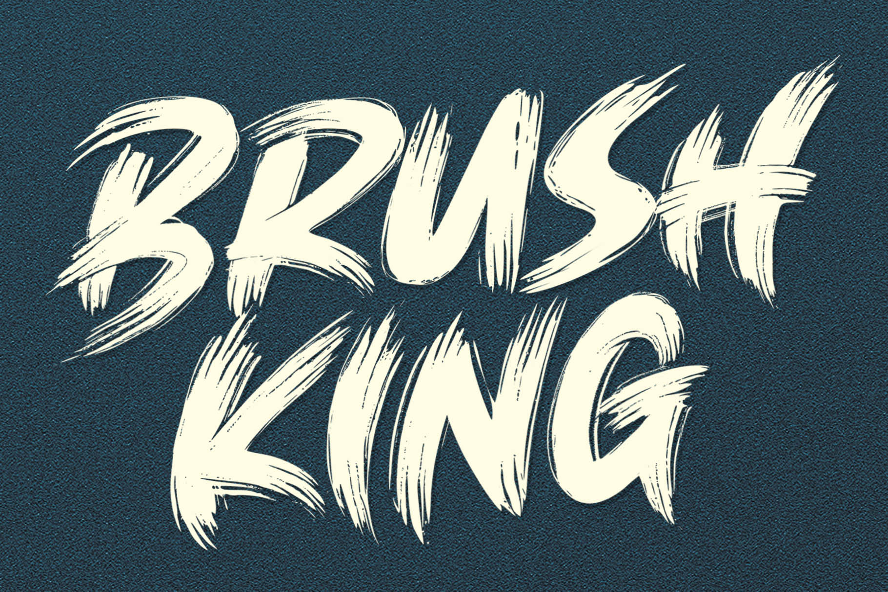 BRUSH KING / Brush Font example image 1