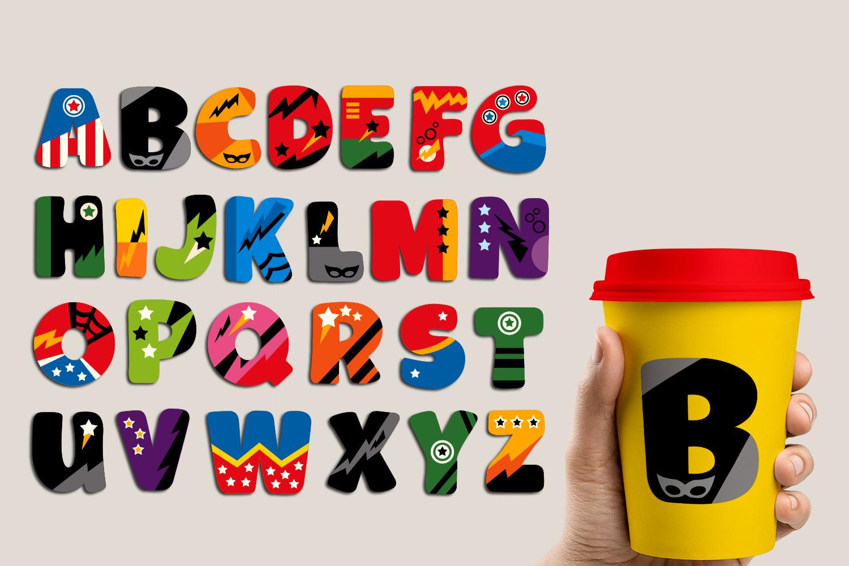 Superhero Alphabet and Punctuation - Graphics Bundle example image 12